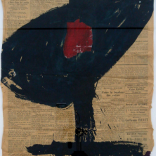 1-544-RVCOLL759133,renier vaessen,1975,90,chronique religieuse,gemengde techniek op papier,95x74