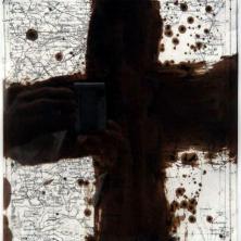 1-614-RVCOLL759129,renier vaessen,1975,90,journey without stones,gemengde techniek op papier,52x52